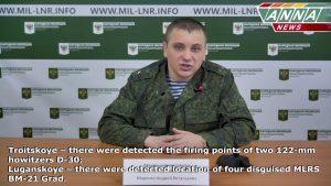 Брифинг официального представителя НМ ЛНР подполковника Марочко на 21.02.2017 + English Subtitles