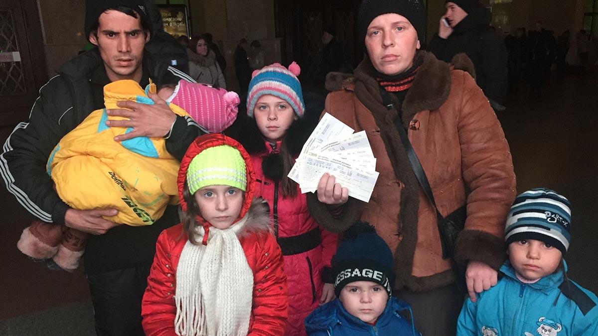 Погром в лагере беженцев под Киевом