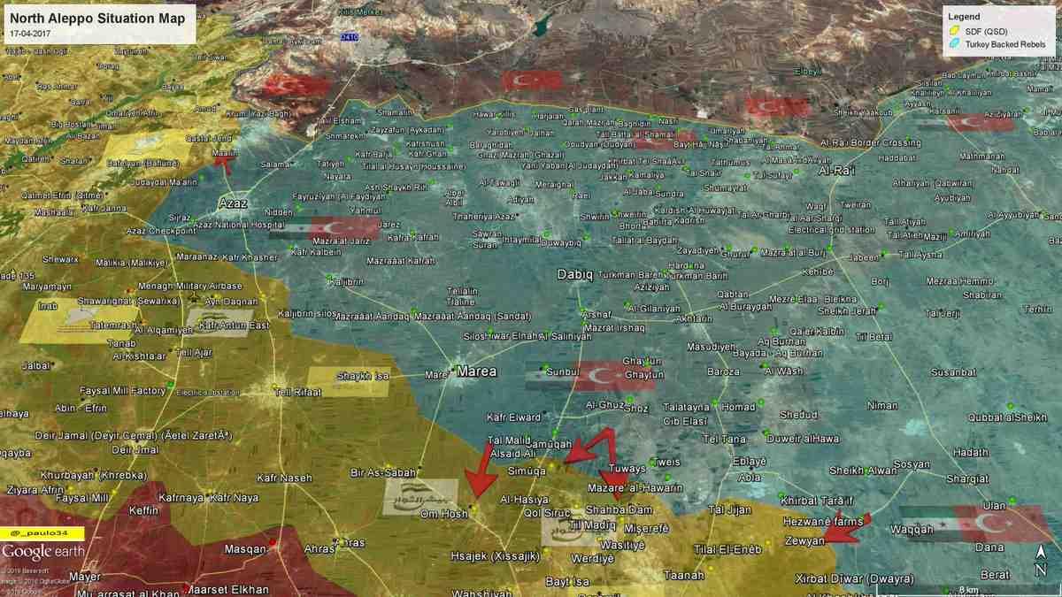 Сводка событий в Сирии за 17 апреля 2017 года