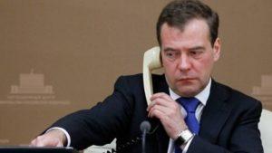 Медведев поблагодарил  Йылдырыма за помощь в эвакуации моряков