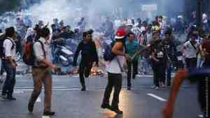 Нацгвардия разгоняет «Марш освободителей» в Венесуэле