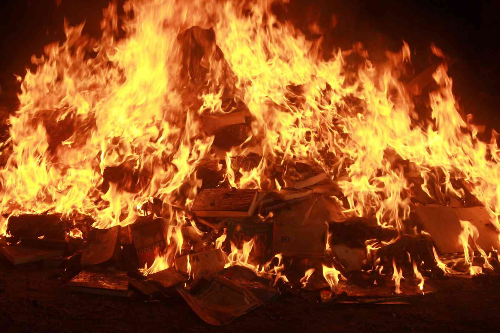 churches burning books Come to our halloween book burning we are burning satan's bibles like the niv, rsv, nkjv, tlb, nasb, nev, nrsv, asv, nwt, good news for modern man, the evidence bible, the message bible, the green bible, ect these are perversions of god's word the king james bible we will also be burning.