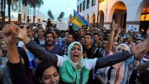 Марокканская полиция использует слезоточивый газ против демонстрантов