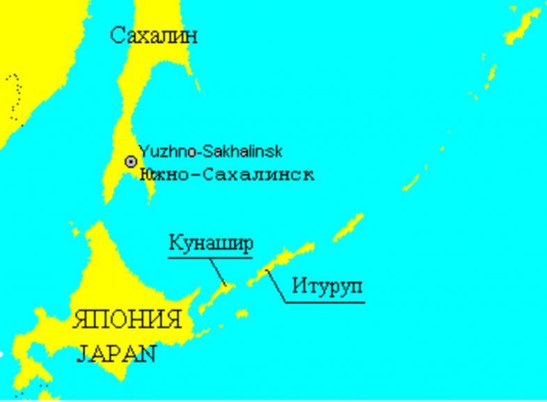 Где находится острова курильские на карте мира
