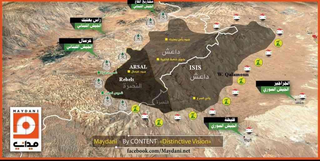 Нагорье Джуруд-Арсал на сирийско-ливанской границе освобождается от террористов