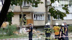 Взрыв произошел в жилом доме на юге Киева- есть пострадавшие