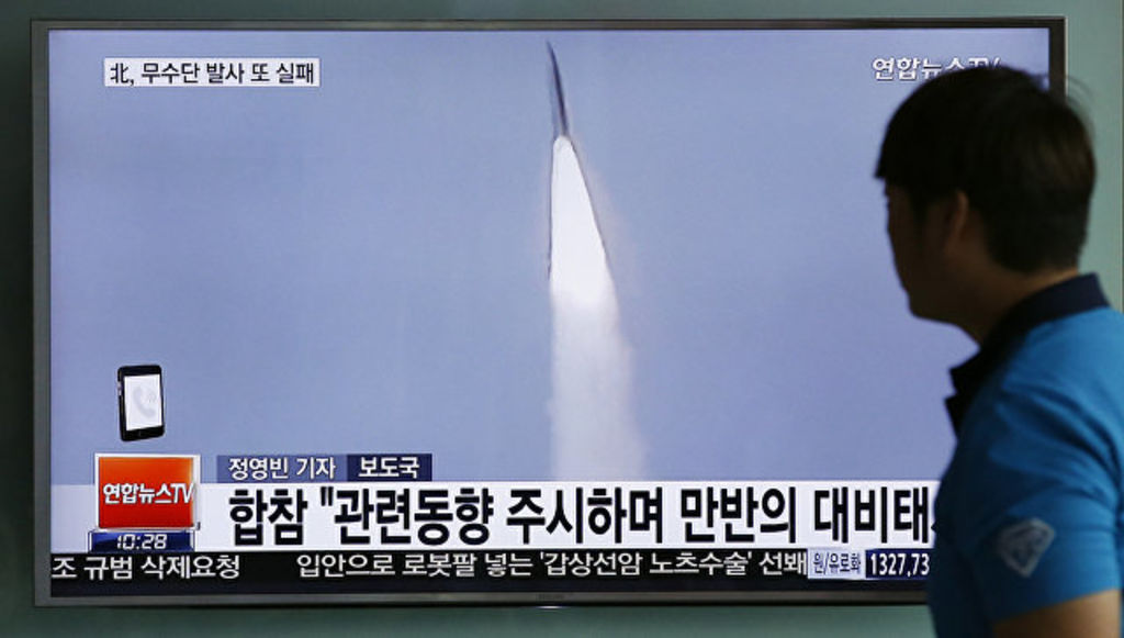 Ракета КНДР обрушилась нагород слюдьми