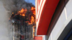 МЧС: пожар в гостинице Ростова-на-Дону ликвидирован