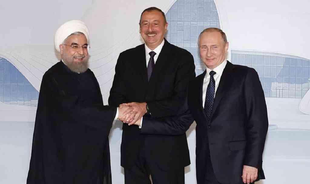 Кремль обнародовал повестку встречи РФ— Азербайджан— Иран вТегеране