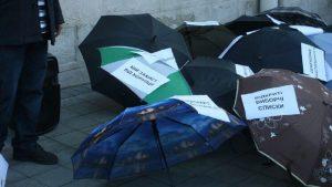 Во Львове прошел немноголюдный митинг в поддержку Саакашвили