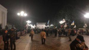 Организаторы митинга у Рады остались на ночь