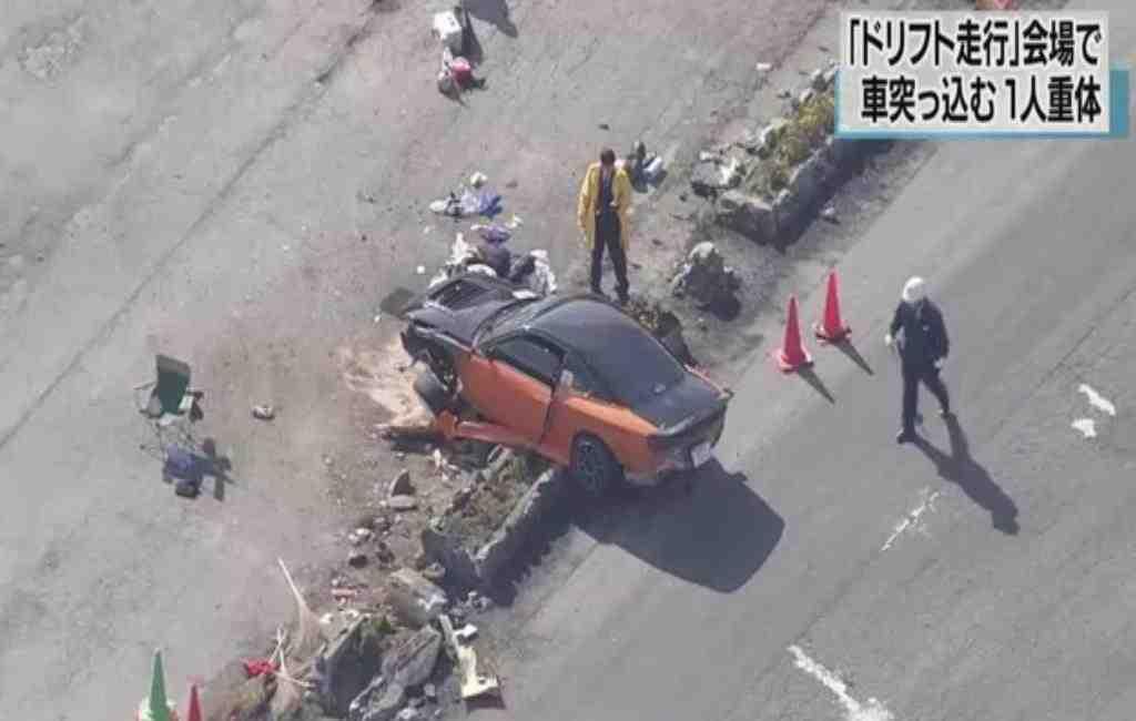 ВЯпонии автомобиль влетел втолпу вовремя дрифт-заезда