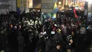В Киеве произошла потасовка полиции с митингующими