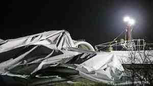 В Великобритании рухнул дирижабль