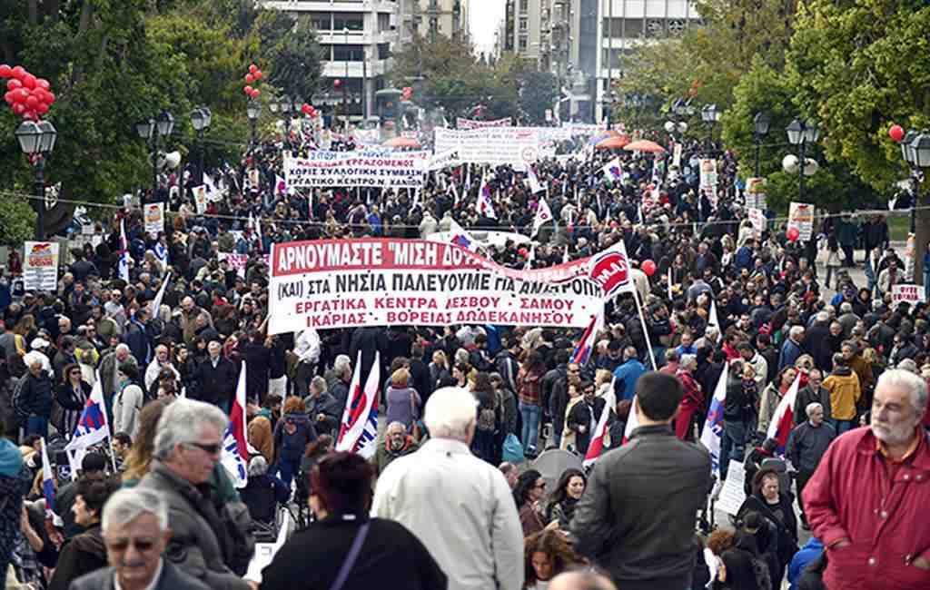 ВГреции началась всеобщая забастовка против жестких мер экономии