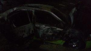 На Днепропетровщине сожгли машину россиянину-беглецу