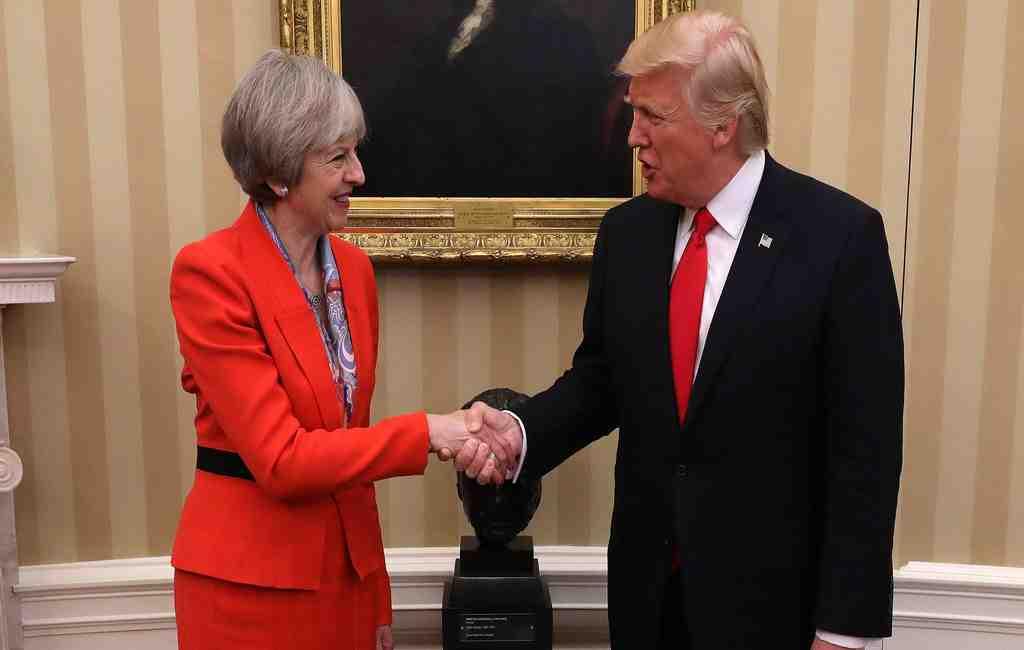 Трамп посетит Англию вконце февраля