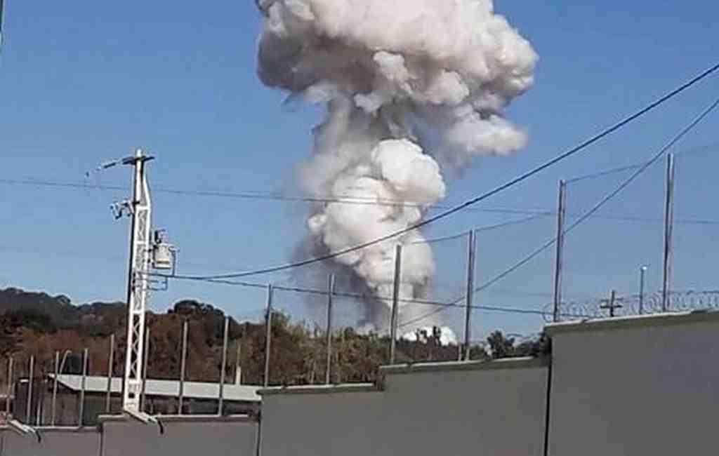 ВМексике 4 человека погибли при взрыве наскладе пиротехники