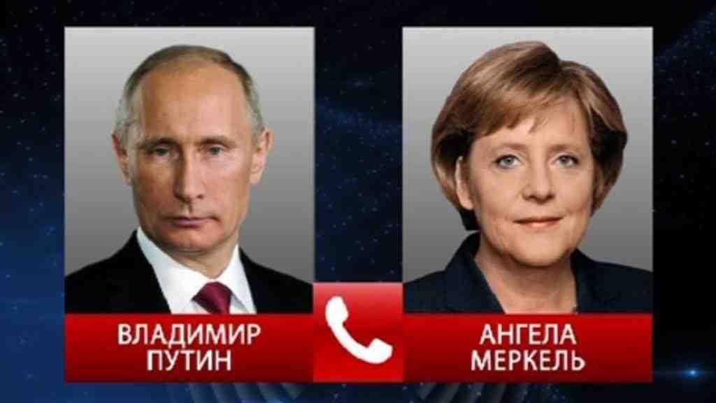 Владимир Путин обсудил сАнгелой Меркель вывод русских офицеров СЦККиз Донбасса