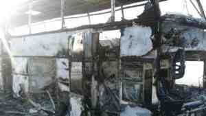 Озвучена предварительная причина возгорания автобусе в Казахстане