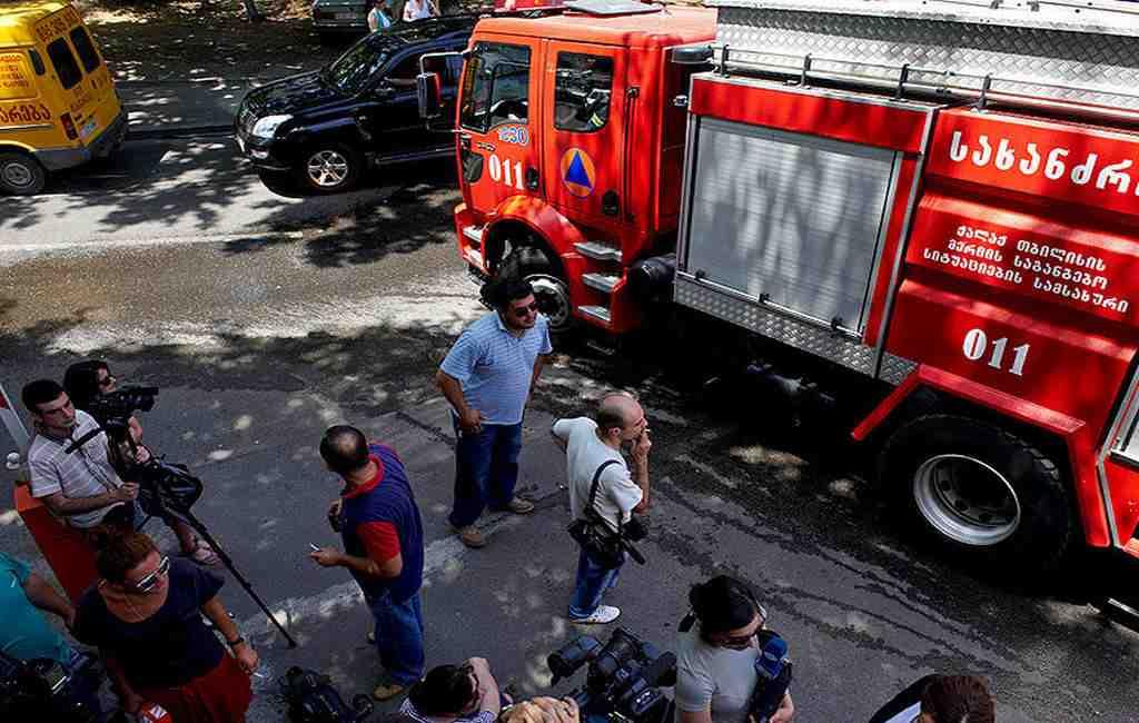 ВГрузии сгорел пассажирский автобус следовавший изАзербайджана вТурцию