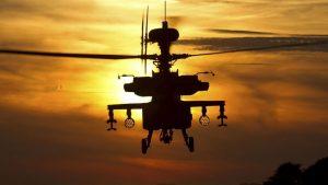В Калифорнии упал военный вертолет