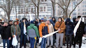 В Одессе полиция задержала участников акции 23 февраля