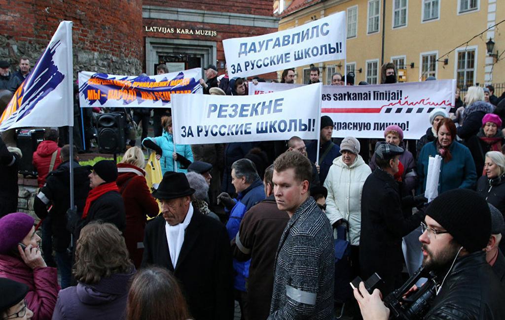 ВЛатвии намитинг взащиту русских школ пришли 3 тысячи человек