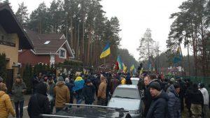 Сторонники Саакашвили разбивают палаточный городок у дома Луценко