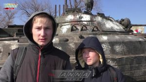 Тренировки по эвакуации детей из зоны боестолкновений. поселок Калиново, ЛНР