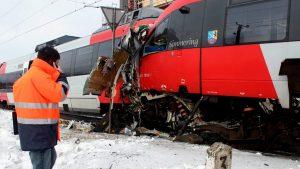 В Австрии столкнулись два поезда