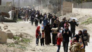 Восточную Гуту через гуманитарный коридор покинули 79,7 тыс. мирных граждан