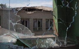 обстрелы ВСУ по Саханке