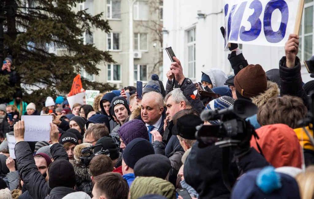 Губернатор Кузбасса обвинил митингующих в«святотатстве»