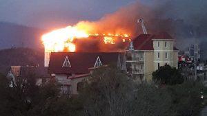 Площадь пожара в Сочи достигла 600 кв. метров