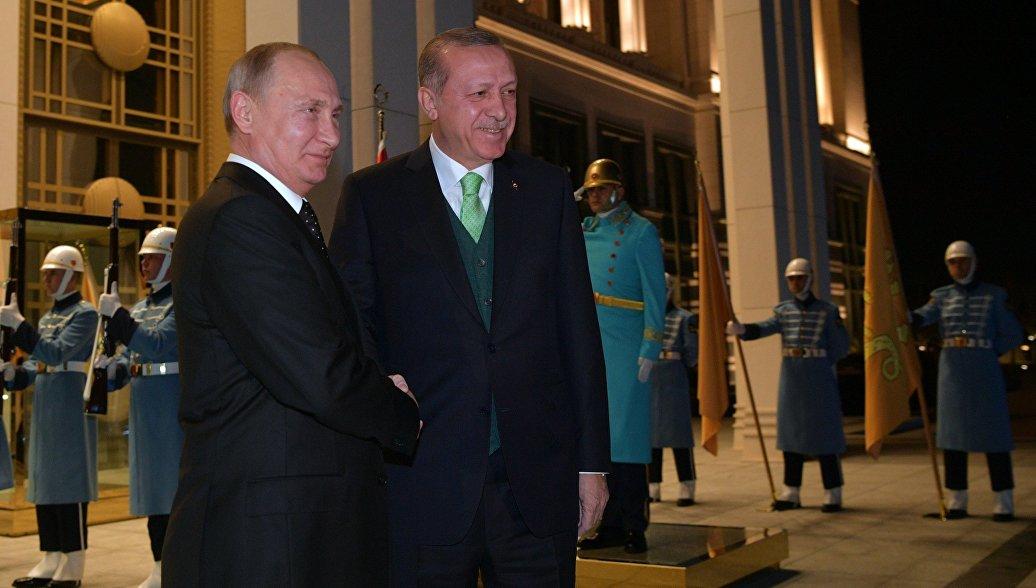 Путин иЭрдоган провели российско-турецкие переговоры