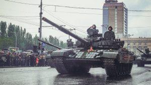 ДНР проводит репетицию Парада Победы