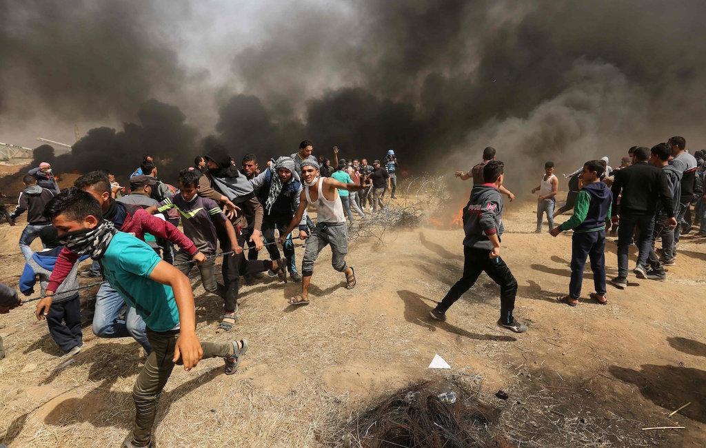 Всекторе Газа палестинец умер встолкновениях сизраильской армией