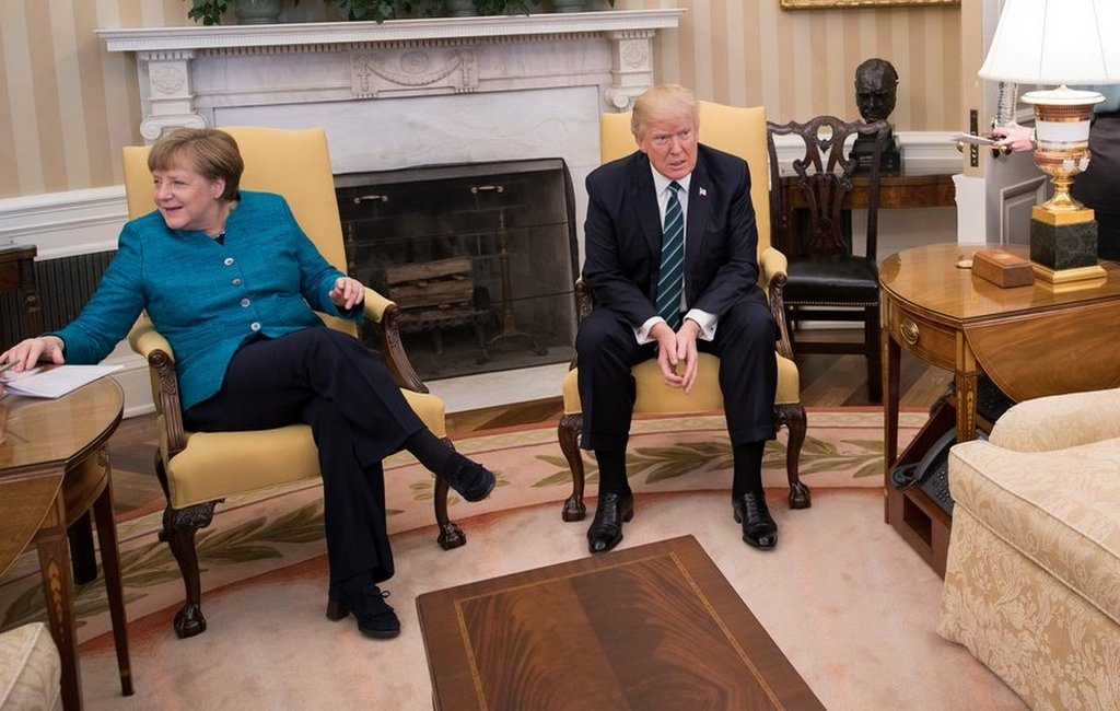 Меркель навстрече сТрампом поведала о общих планах поповоду Украинского государства