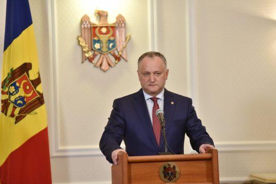 Президент Молдавии призвал приверженцев поддержать партию социалистов