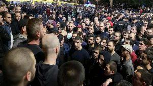 Акции протеста в центре Тбилиси прекращены