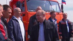 Путин официально открыл автомобильную часть Крымского моста
