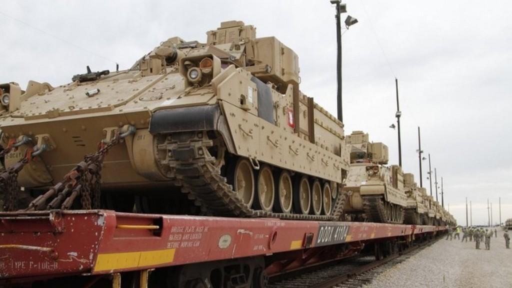 ВБельгию прибыла североамериканская военная техника для размещения вВосточной Европе