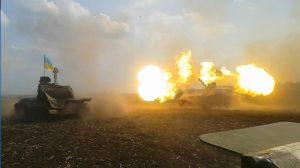 Жестокий обстрел Донбасса боевиками ВСУ был заснят с беспилотника