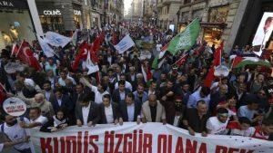 Годовщина конфликта у берегов Газы: в Стамбуле демонстрации
