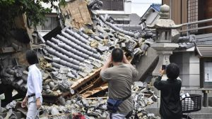 234 человека пострадали при землетрясении в Японии