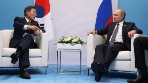 Президент Южной Кореи проводит переговоры с Путиным в Кремле