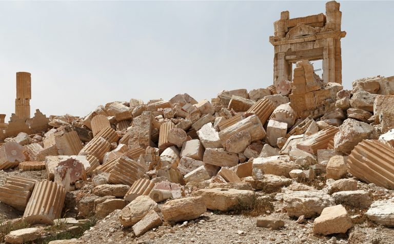 Syria. The historical part of Palmyra, Syria liberated from the Islamic State terrorists.