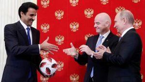 Путин передал эстафету ЧМ мира по футболу эмиру Катара