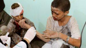 Бомба, убившая 40 детей в Йемене, была произведена в США